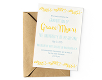 Graduation Announcement and Invitation