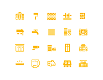 Icon set for Golden House