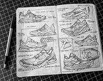 Random Footwear Sketching