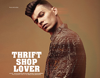 """Thrift shop lover"" for FRUK magazine"