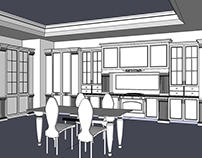 Interior and furniture in SketchUp
