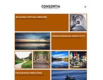Consortia Minimal Portfolio Website Concept