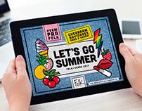 Campanha de verão: Let's Go Summer!