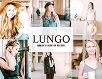 Free Lungo Mobile & Desktop Lightroom Presets