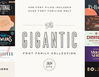 THE GIGANTIC FONT FAMILY COLLECTION