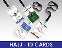 Designed Identity cards for Hajj pilgrimage