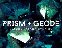 Prism + Geode Natural Stone Jewelry