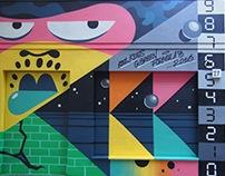 Carhartt W-I-P Hamburg Storefront painting, oct. 2016