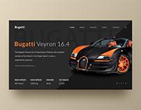 Bugatti Web Page Concept