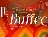 LE Buffec Thin - Free Elegant Serif Font