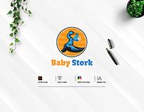 Baby Stork Logo Design