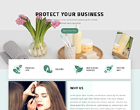 Beauty Business   Landing Page Design