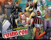 Amanda Conner ComicCon 2014 Landing Page and Postcard