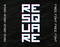 ReSquare — free font