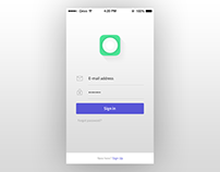 Login screen design (ios)