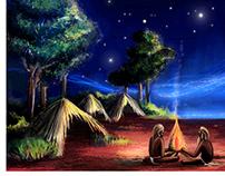 """Dreamtime Man"" Book Illustration"