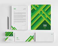 Minimal Green Stripes Stationery