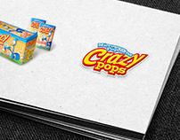 """""""Crazy Pops"""" popcorn packaging design"""