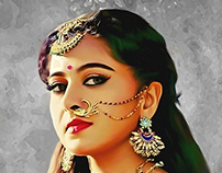 Smudge Painting Anushka Shetty