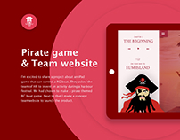Pirate iPad game and Agency website