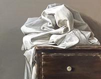 linen in winter's light