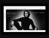 Musée Yves Saint Laurent Paris - Website Design