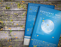 ''LIFE'' The Conserve Water Book cover design