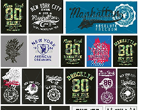New york city graphic design vector art