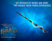 The Wizarding World of Harry Potter advertising.