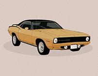 Plymouth 1970 Barracuda (sketch)