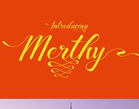 Free Font - Merthy Script