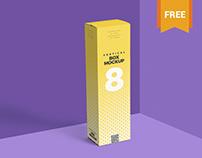 Free Multi-Purpose Vertical Box Mockup PSD