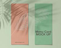Free Menu Card Mockup