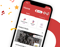 Optio Deals & Rewards App UX/UI Design & Branding