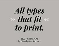 playfair | espécimen tipográfico