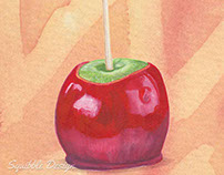 Toffee Apple Illustration