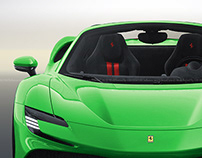 2020 Ferrari SF90 Stradale Spider Green Nature