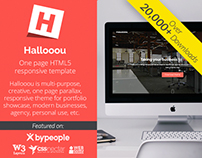 Hallooou - Free One page HTML5 responsive template