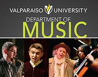 Valparaiso University Music Season Self-Mailer Brochure