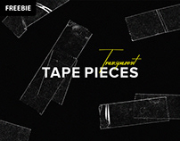 Free Download: Transparent Tape Pieces