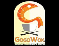 Imagotipo para fast-food GoGo Wok