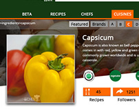 Ingrediant Page Design-Story for recipeee.com