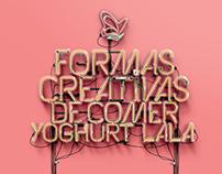 Formas creativas de comer yoghurt / Infographic