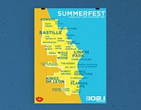SUMMERFEST + FM 102.1 / Poster