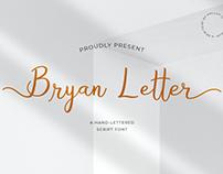 Bryan Letter - Script Font