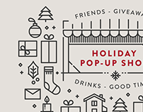 Holiday pop-up shop | Graphic design