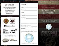 Warriors & Wishes Tri-Fold Brochure - Graphic Design