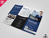 Professional Corporate Tri Fold Brochure Free PSD Templ
