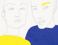 giallo e blu