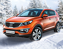 KIA Sportage. KV, POSM, outdoors formats, prints